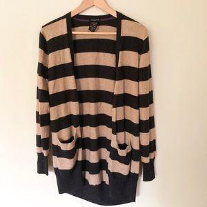 Aritzia Talula xs cashmere blend striped cardigan